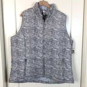 Ideology NWT space dye puffer vest athletic 2X